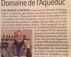 Domaine de l'Aqueduc - Saint-Maximin - Article Républicain