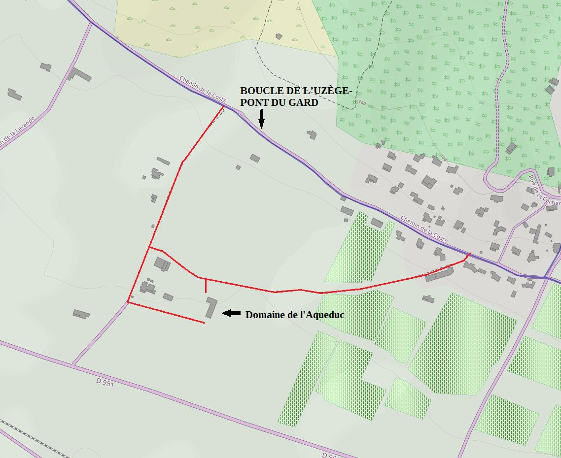 Le Domaine de l'Aqueduc sur la boucle de l'UZEGE-PONT DU GARD en vélo